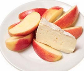 rodajas-manzana-queso