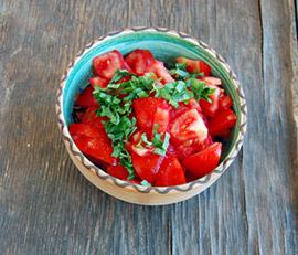 Ensalada de Tomates con Ajitos
