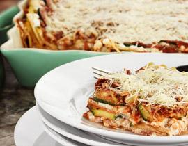 Lasaña Vegetal con Mozzarella