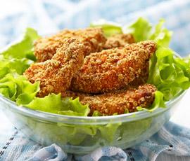 Nuggets de Pollo con ensalada