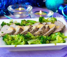 Lomo a la plancha con Brócoli