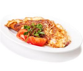 Tortilla de Queso con Daditos de Tomate